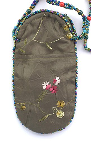 Soie Lunettes Papillon Ou Billes Portable Porcelaine Sac Téléphone De Verre Kaki Motif Pour Et En p5qYwC