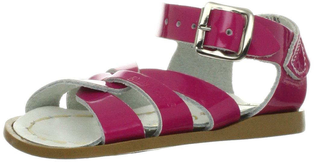 Salt Water Sandals by Hoy Shoe Original Sandal (Toddler/Little Kid/Big Kid/Women's), Shiny Fuschia, 3 M US Infant