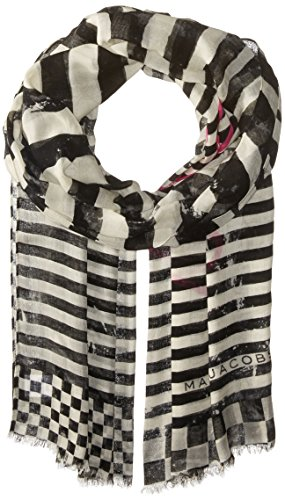 Marc Jacobs Women's Textured Zebra Paradise Stole In Black/Multi, One Size by Marc Jacobs