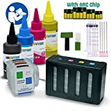 INKUTEN CISS Continuous Ink system for HP 940, 940XL With 4x100ml Premium Dye ink for for HP Officejet Pro 8000, 8000a, 8500, 8500a Printers