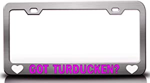 Custom Brother - GOT Turducken? Food Vegetable Fruit Metal Car SUV Truck License Plate Frame Ch t67