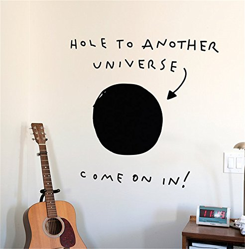 Hole to Another Universe Wall Decal Wall Stickers Art Decor Vinyl Peel and Stick Mural Removable Wall Sticker Decals for Room Home