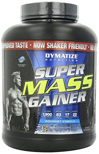 Dymatize Super Mass Gainer, Gourmet Vanilla, 6 lbs