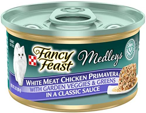 Purina Fancy Feast Medleys Adult Canned Wet Cat Food – 24 3 oz. Cans