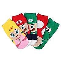 Calcetines de Crew Mario Bros para niñas de 5 pares