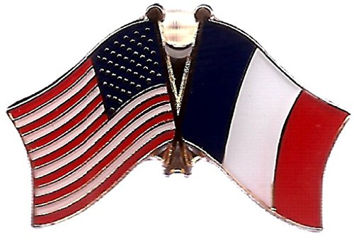 ALBATROS Pack of 3 USA American France Flag Lapel Pin for Bike Hat and Cap for Home and Parades, Official Party, All Weather Indoors Outdoors
