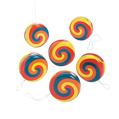 Fun Express - Swirl YO-yo - Toys - Value Toys - Yo - Yos - 12 Pieces