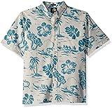 Reyn Spooner Men's Spooner Kloth Classic Fit Button Front Hawaiian Shirt, Natural Quiet Lagoon, XXL