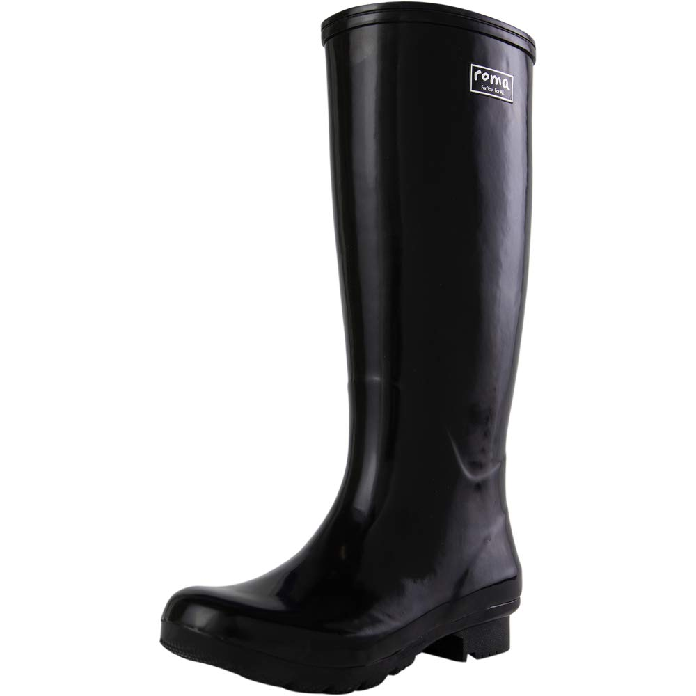 ROMA Women's EMMA Classic Rain Boots, Black