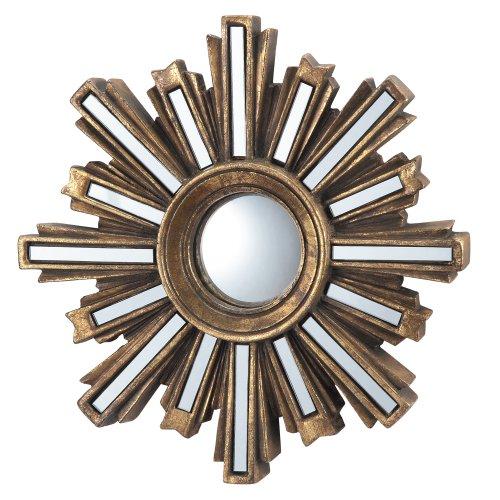 SPI Home Gold Deco Sunburst Wall Mirror (Mirror Gold Wall Sunburst)