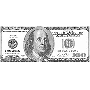 image about Fake 1000 Dollar Bill Printable identify The Gags Fastened of 100-Enlarged Outsized Reproduction Untrue Enjoy Monetary-Just one Hundred Greenback Charges inside of Black and White-One Sided Enjoy Cash.