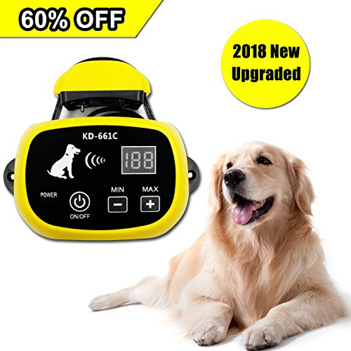 Depps Wireless Pet Containment System with Rechargeable Transmitter (2500 mAH) and Rechargeable Collar Receiver - Safe & Easy Install WiFi Radio Dog Fence (1 Dog System)