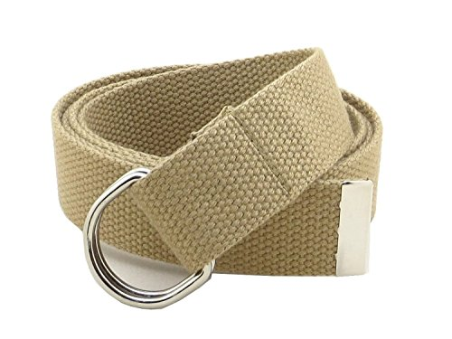 Buckle Khaki (Thin Web Belt Double D-Ring Buckle 1.25