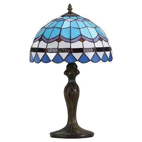 Amazon.com: CCSUN Lámpara LED estilo Tiffany Lámpara de mesa ...
