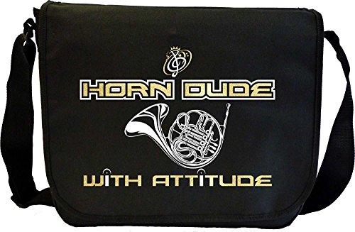 French Horn Dude Attitude - Musik Noten Tasche Sheet Music Document Bag MusicaliTee