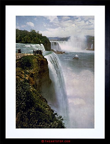 The Art Stop Vintage Photo Niagara Falls Waterfall New York USA Canada Framed Print F12X7606