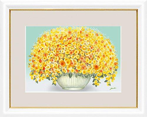 【大】風水絵額-幸せのブーケ輝く黄色のブーケ/洋美G4-AB031 B01N11185Q
