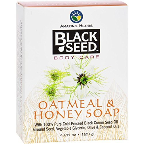 [Black Seed Bar Soap - Oatmeal and Honey - 4.25 oz] (Henna Moisturizing)