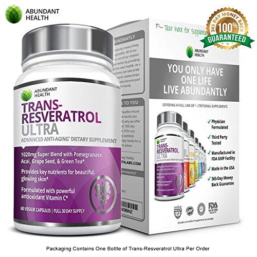 Abundant Health Trans Resveratrol Anti aging Antioxidant product image