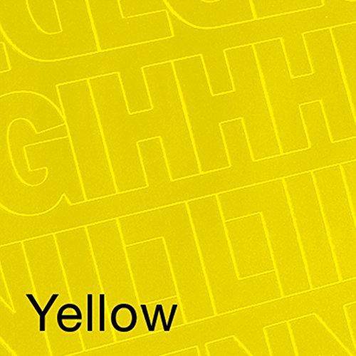 Graphic Products Prodotti grafici vinile adesivo permanente le lettere e i numeri 3, 160 pezzi, colore: giallo D3216-YELLO
