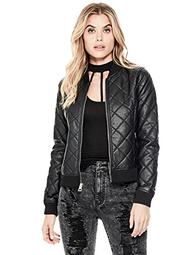 GUESS Factory Women's Geena Faux-Leather Bomber Jacket
