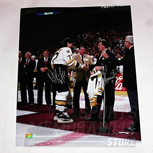 Ray Bourque Phil Esposito Boston Bruins Signed #7 Jersey Retirement Night 16x20 ()