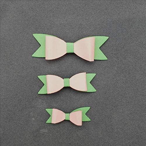 scrapbooking decorazioni artigianali Fustelle per realizzare biglietti in metallo con fiocco album fotografici cartoline goffratura 6 pezzi YunTrip per fai da te