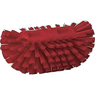 "Vikan 70374 Polyester Bristle Hand-Held Tank Brush, 8"", Red"