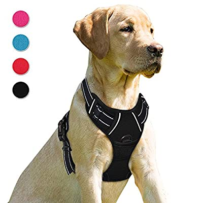 BARKBAY No Pull Dog Harness Front Clip Heavy Duty Reflective Easy Control Handle for Large Dog Warking