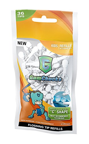 Gumchucks Kids Floss Loose Flossing Tips Refills (Pack of 36)