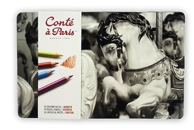Conté à Paris Pastel Pencils with 24 Assorted Colors