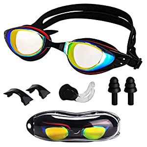 Swimming Goggles for Adults-Anti Fog No Leaking UV Protection Swimming Glasses, Pool Goggles Perfectly Protect Your Eyes