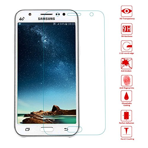 OKCS® TPU Hülle Case Schutzhülle für Samsung Galaxy J5 Mini inklusive Wunderglass Panzerglas Screenprotector Schutzfolie Displayschutz Glasprotector