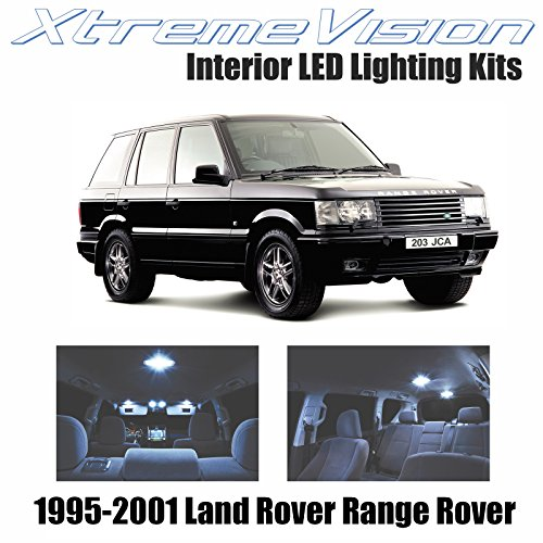 XtremeVision Land Rover Range Rover 1995-2001 (18 Pieces) Cool White Premium Interior LED Kit Package + Installation - Land Rover Interior Lights