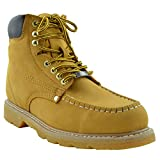 Eagle Men's Boots Oil Resistant Stitched Leather Work Hiking Padded Shoes Tan SZ 7.5