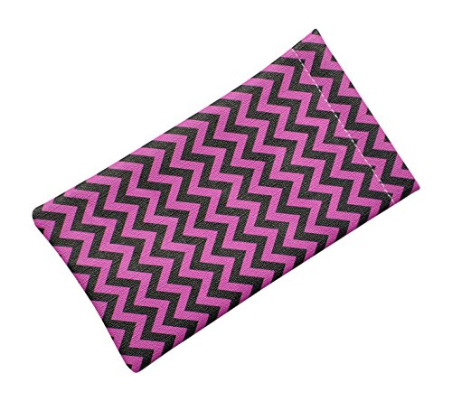 Soft Squeeze Top Slip In Eyeglasses Case And Holder, Chevron Design, - Top Eyeglasses