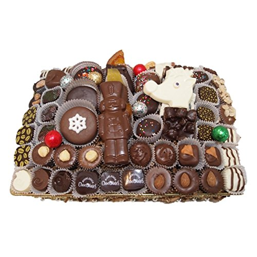 Miami Beach Chocolates Gourmet Hand-Crafted Holiday Chocolates Gift Basket Kosher Parve Vegan or Dairy, Made To Order, Premium