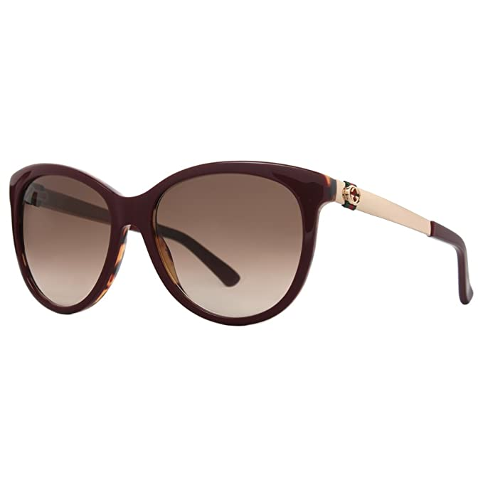a2cd9ccca73 Gucci 3784S LVS Burgundy Havana Gold 3784S Cats Eyes Sunglasses Lens  Category 2  Amazon.ca  Clothing   Accessories