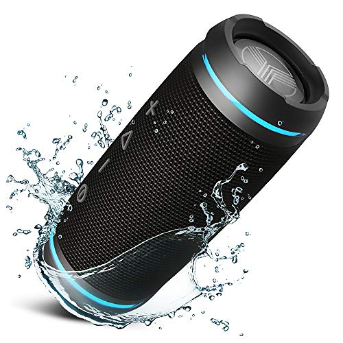 TREBLAB HD77 - Ultra Premium Bluetooth Speaker - Loud 360° HD Surround Sound, Wireless Dual Pairing, Best 25W Stereo, Loudest Bass, 20H Battery, IPX6 Waterproof, Sports Outdoor, Portable Blue Tooth