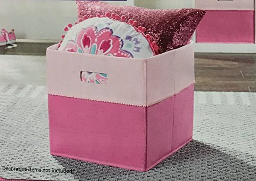 Better Homes and Gardens Collapsible Fabric Storage Cube - Two-Tone Pink