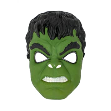 Fancydresswale Superhero The Avengers Costume LED Light Eye Mask, Green-  Hulk