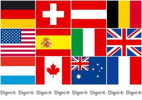 90 x 150 cm Sticker gratuit Digni Drapeau C/ôte dIvoire