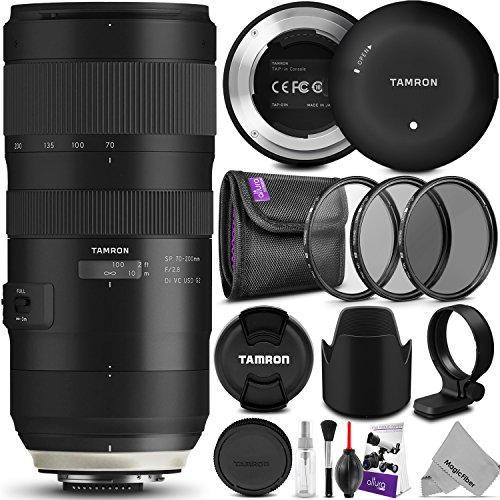 Tamron SP 70-200mm f/2.8 Di VC USD G2 Lens for Nikon F Cameras w/Tamron Tap-in Console and Essential Photo Bundle (Tamron 6 Year Limited USA Warranty)
