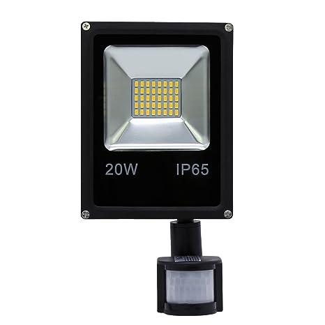 HG® 20W Blanco Cálido Foco proyector LED PIR sensor detección de movimiento IP65