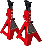 Torin Big Red Steel Jack Stands: SUV/Extended Height, 3 Ton Capacity, 1 Pair