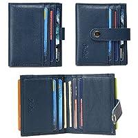 O-LET Credit Card Holder Women Men RFID Leather Wallet Minimalist Slim Card Case