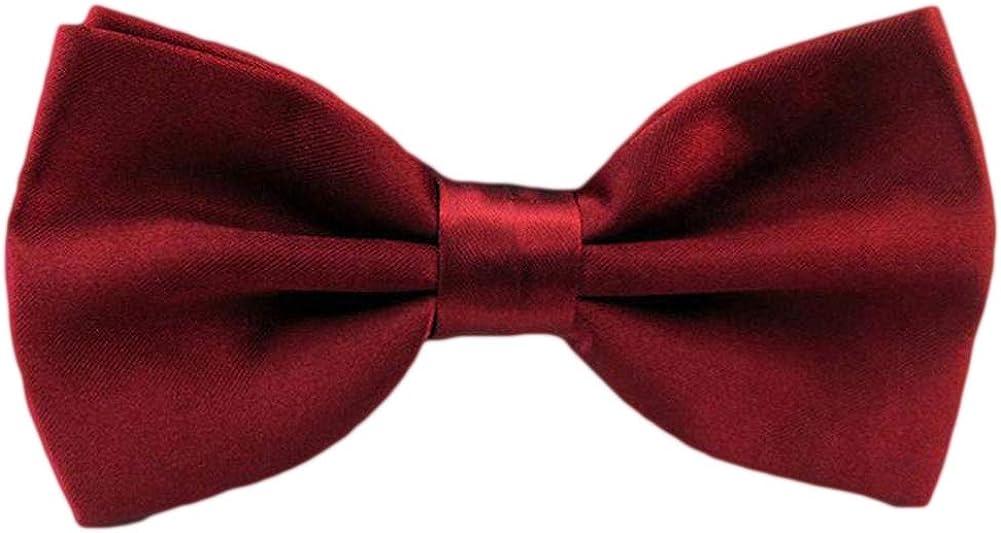 QYdress Men Bow Tie Adjustable Length Wedding Male Fashion Boys Satin Bowties