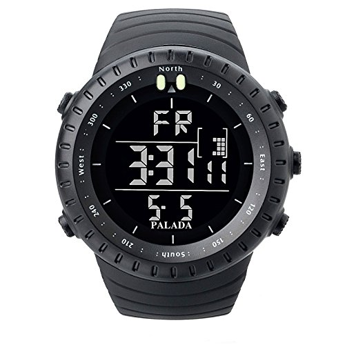 palada menu0027s sports digital wrist watches electronic quartz movement water resistant military business casual with led