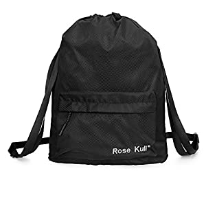 Rose Kuli Sports Sackpack Drawstring Backpack Gym Runner Yoga Bag for Men and Women