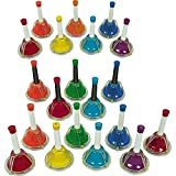 Rhythm Band 20-Note Hand/Desk Bell Set with Twenty Note Kidsplay Handbell Case, holds 20 Hand Bells